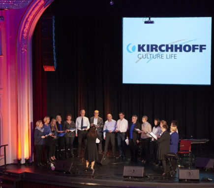 The audience listened eagerly to the singing of the KIRCHHOFF Choir at the beginning of 2019 in Iserlohn.